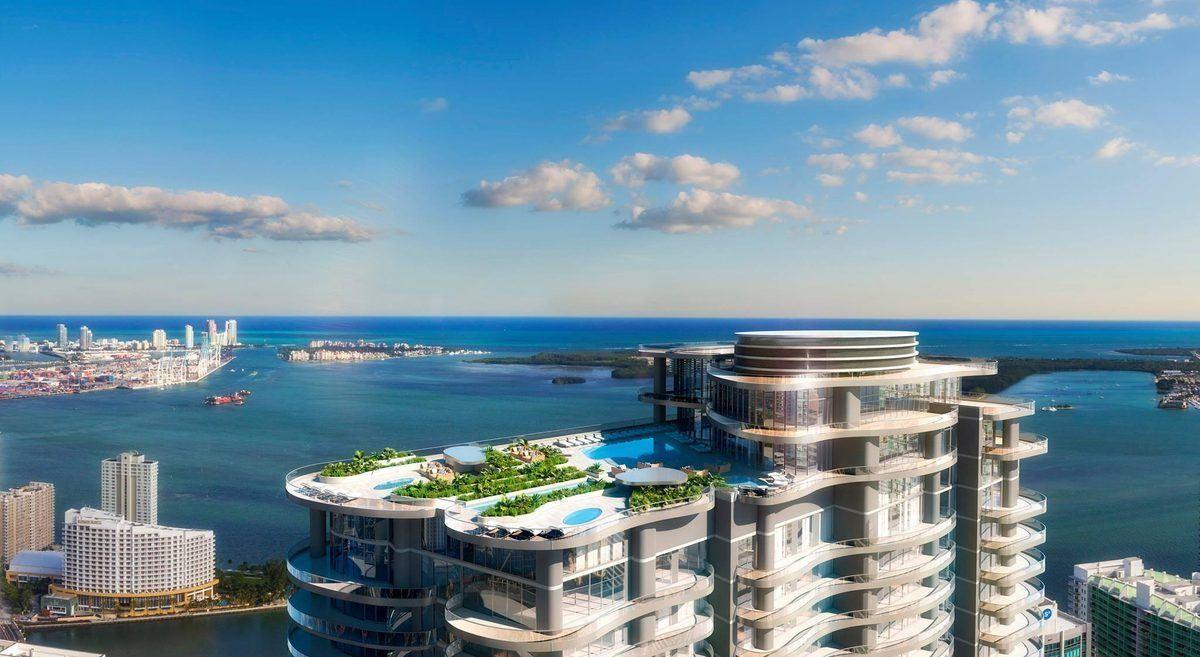 Projet d'immeuble Brickell Flatiron à Miami.