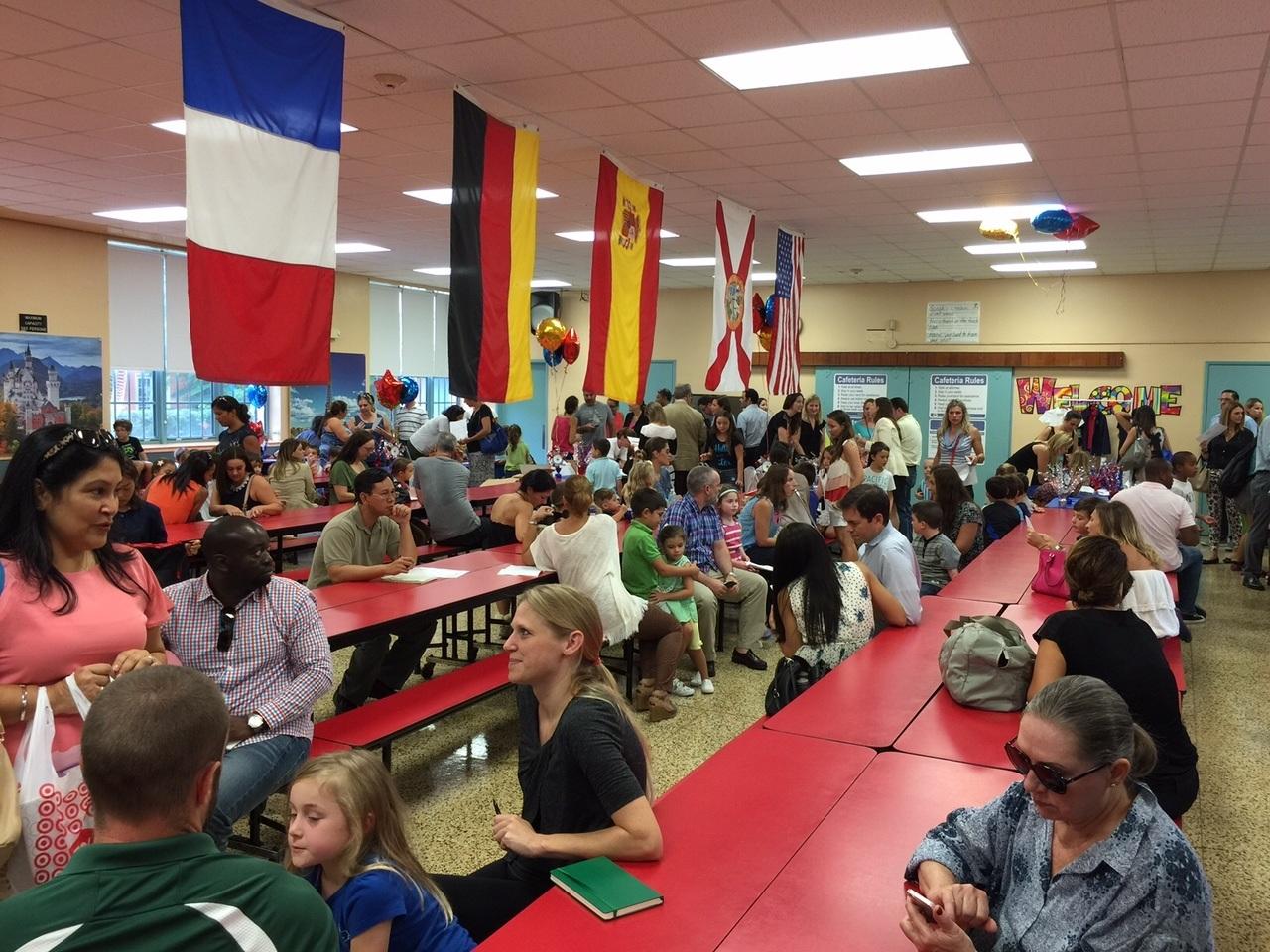 La journée d'orientation pour les 1st Grade du 21 août dernier à la Sunset Elementary School.