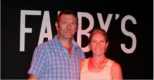 Fabienne et Vincent de Fabby's Restaurant à Hollywood (Floride)