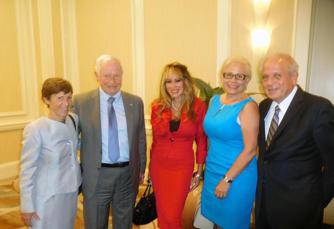 Gouverneur Général du Canada, David Johnston, en visite à Miami.