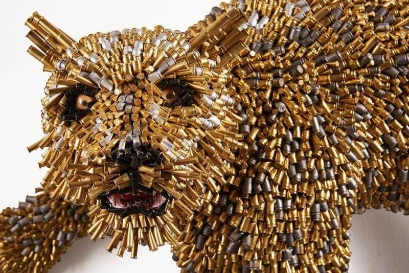 Léopard du sculpteur Federico Uribe, artiste de Miami.