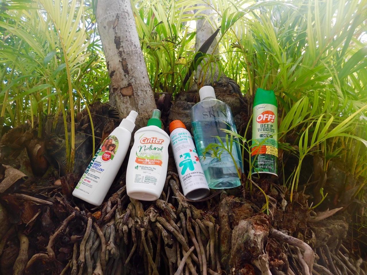 Répulsifs anti-moustiques, mosquitoe repellent : sprays, aérosols, huiles : les meilleurs produits aux Etats-Unis / USA.