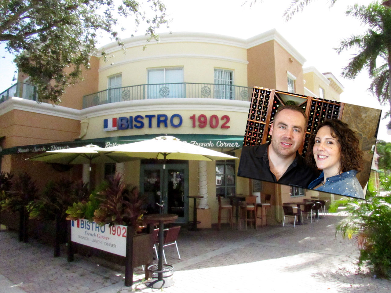 Bistro 1902, restaurant français sur Hollywood blvd, à Hollywood en Floride