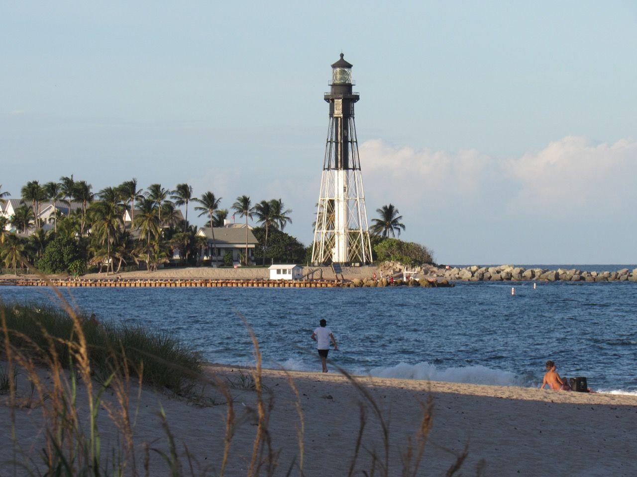 Le phare de Lighouse Point vu depuis Pompano Beach