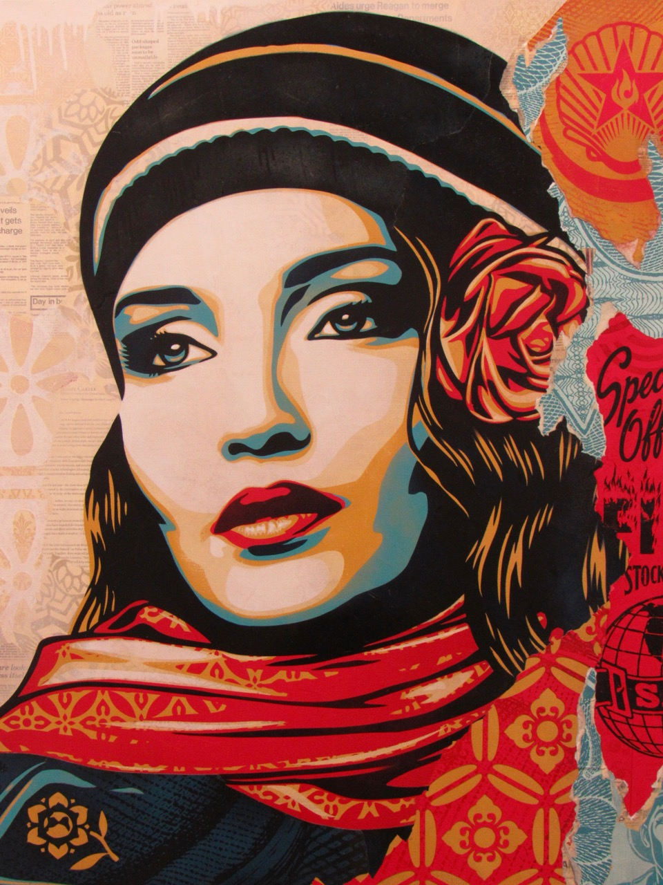 "Shepard Fairey : ""Obey, Fire, Sale"" (2018) durant Art Basel Miami Beach"