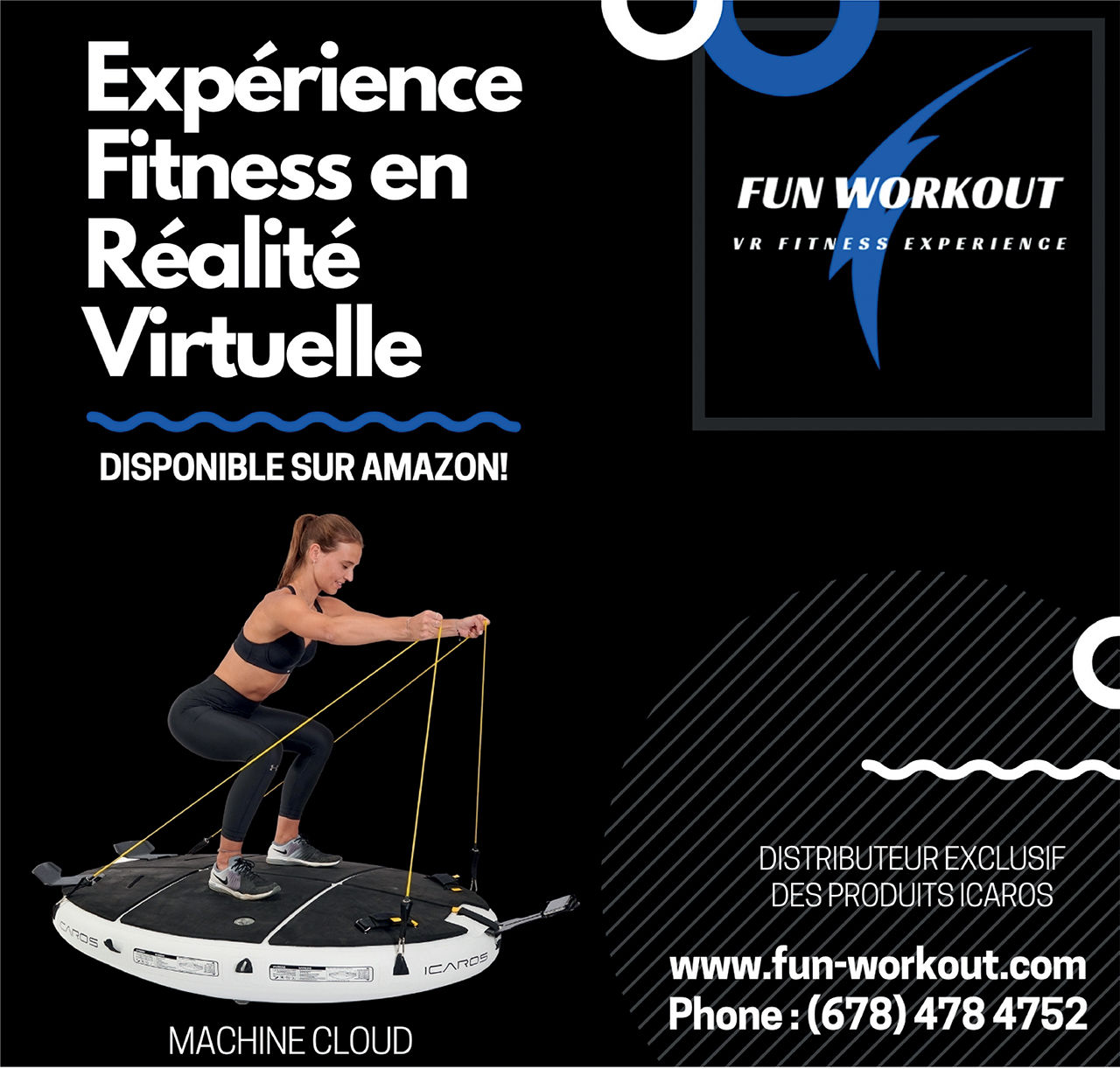 Fun workout: experience fitness en réalité virtuelle