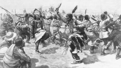 """Les membres de """"La Danse des Esprits"""" avant Wounded Knee"""