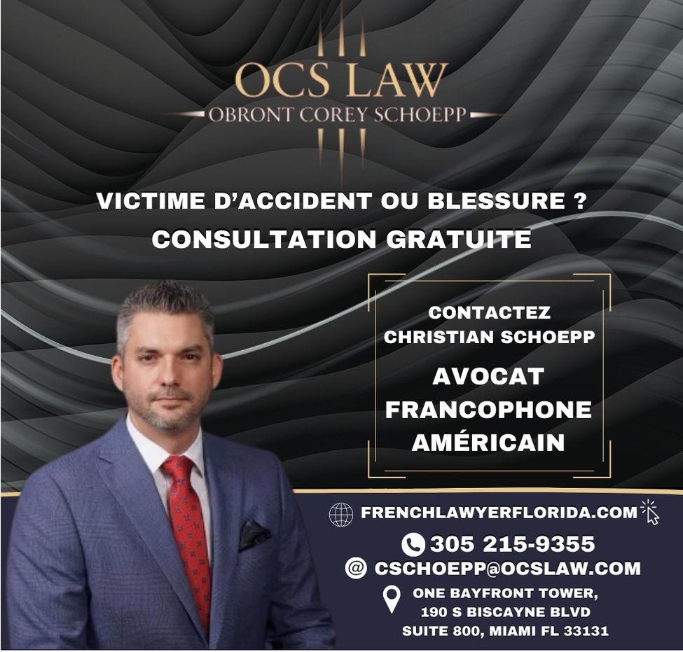 Christian Schoepp, avocat spécialiste des accidents en Floride