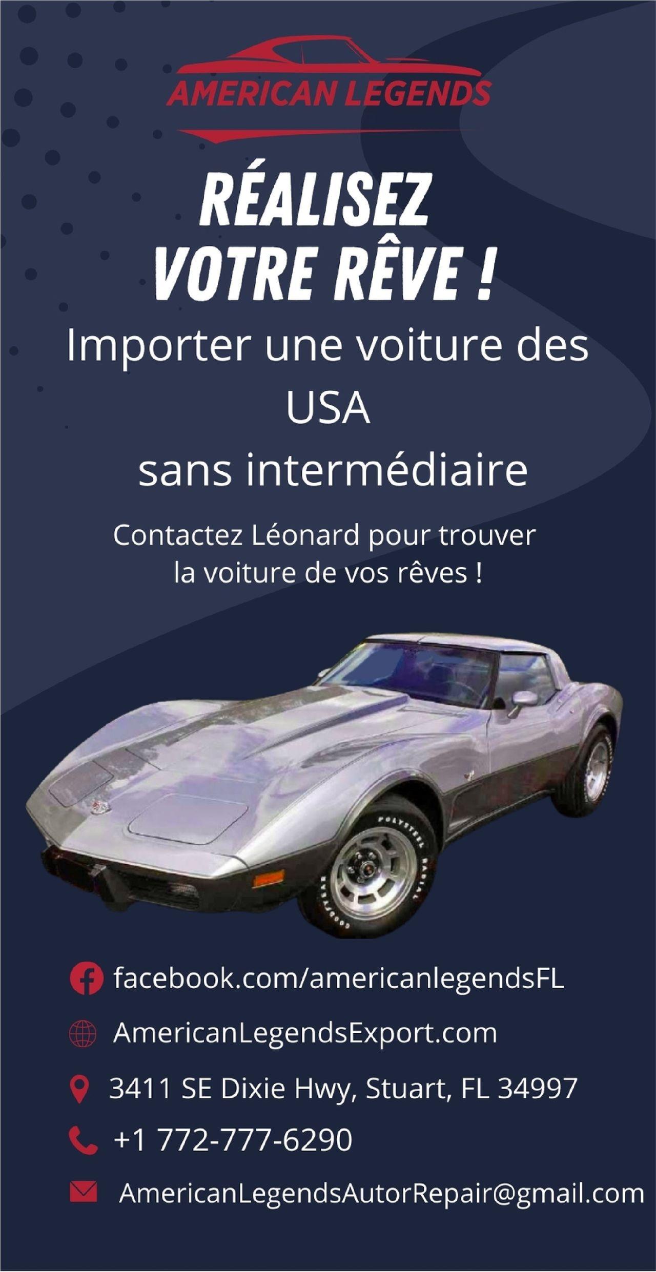 American Legends importer une voiture américaine en France