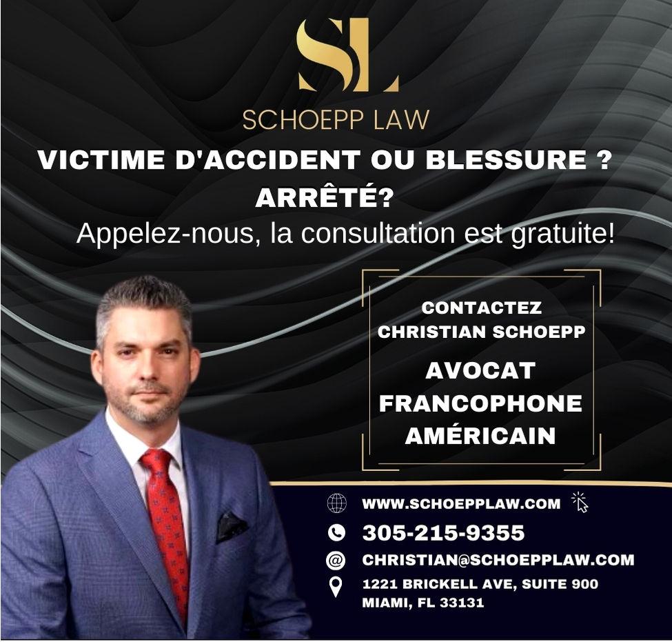 Christian Schoepp, avocat spécialisé dans les accidents et arrestations