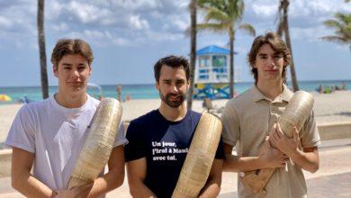 Gorka Sorozabal, Nicolas Eyheragaray et Johan Sorozabal : les joueurs de Pelote Basque de Floride